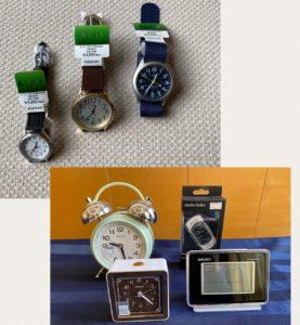 腕時計 目覚まし時計 置き時計 万歩計